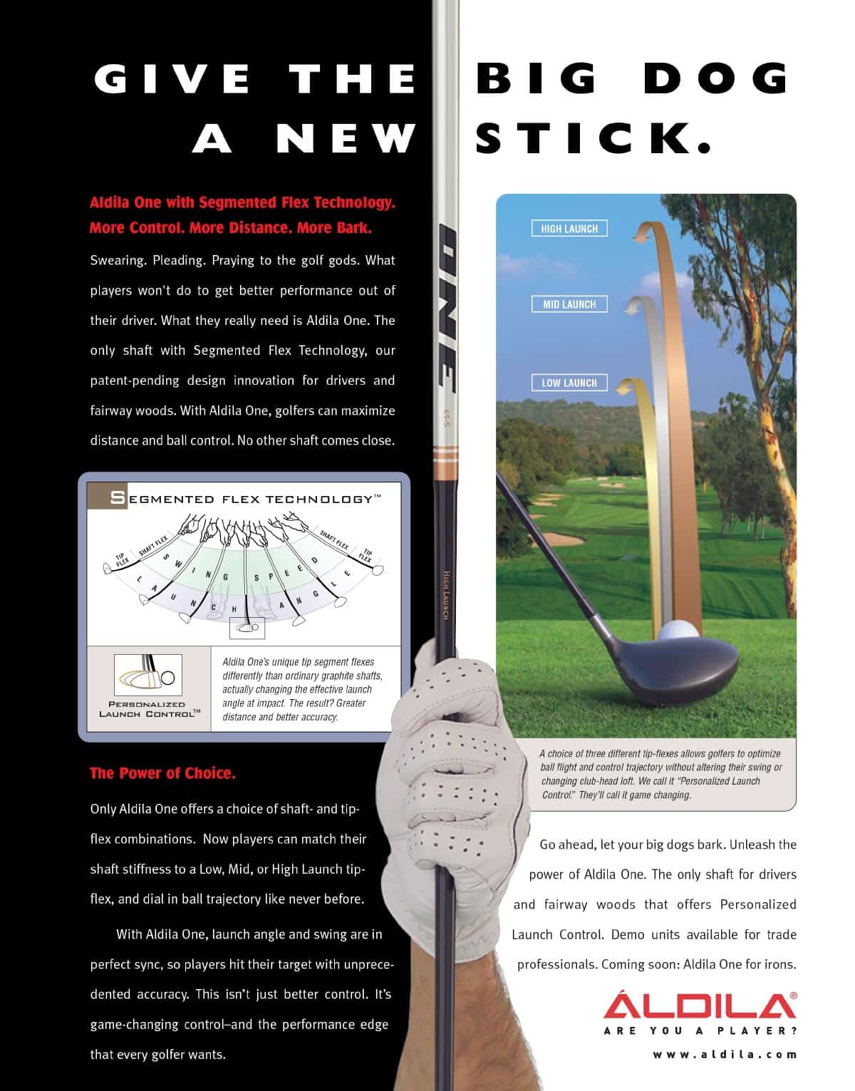 Aldila Golf Shaft Ad