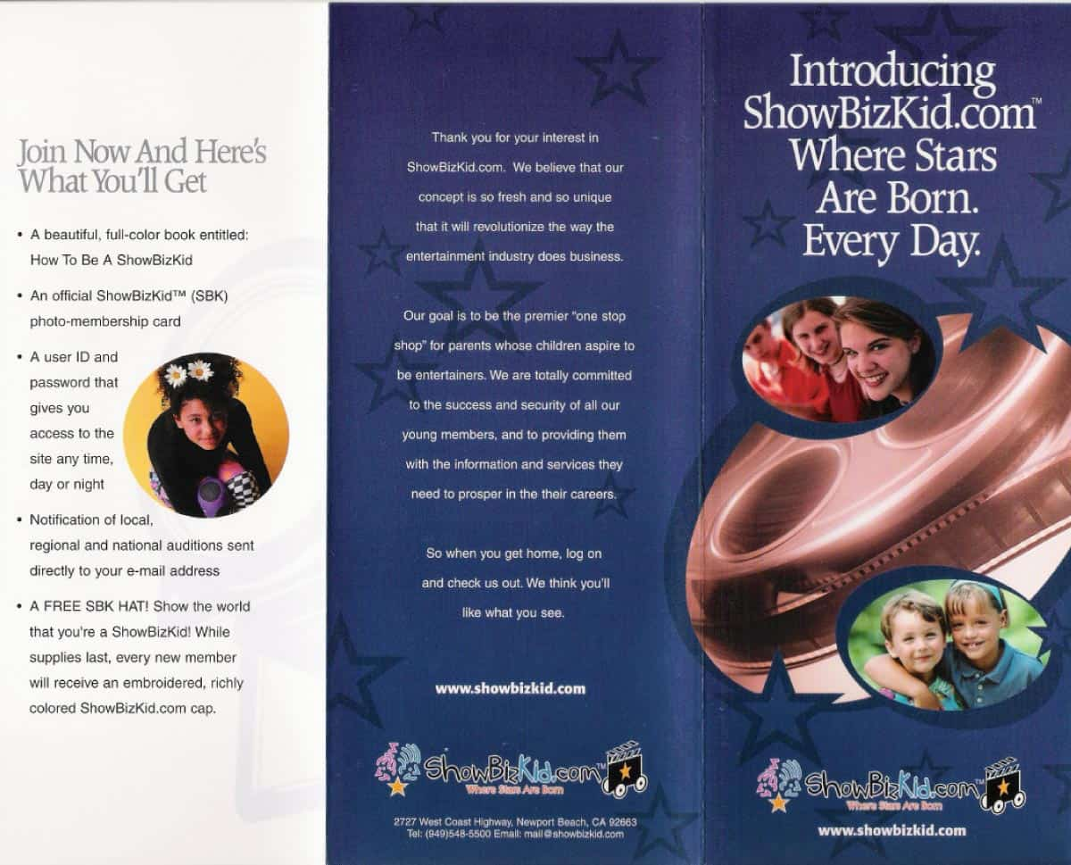 ShowBizKid Parent Brochure