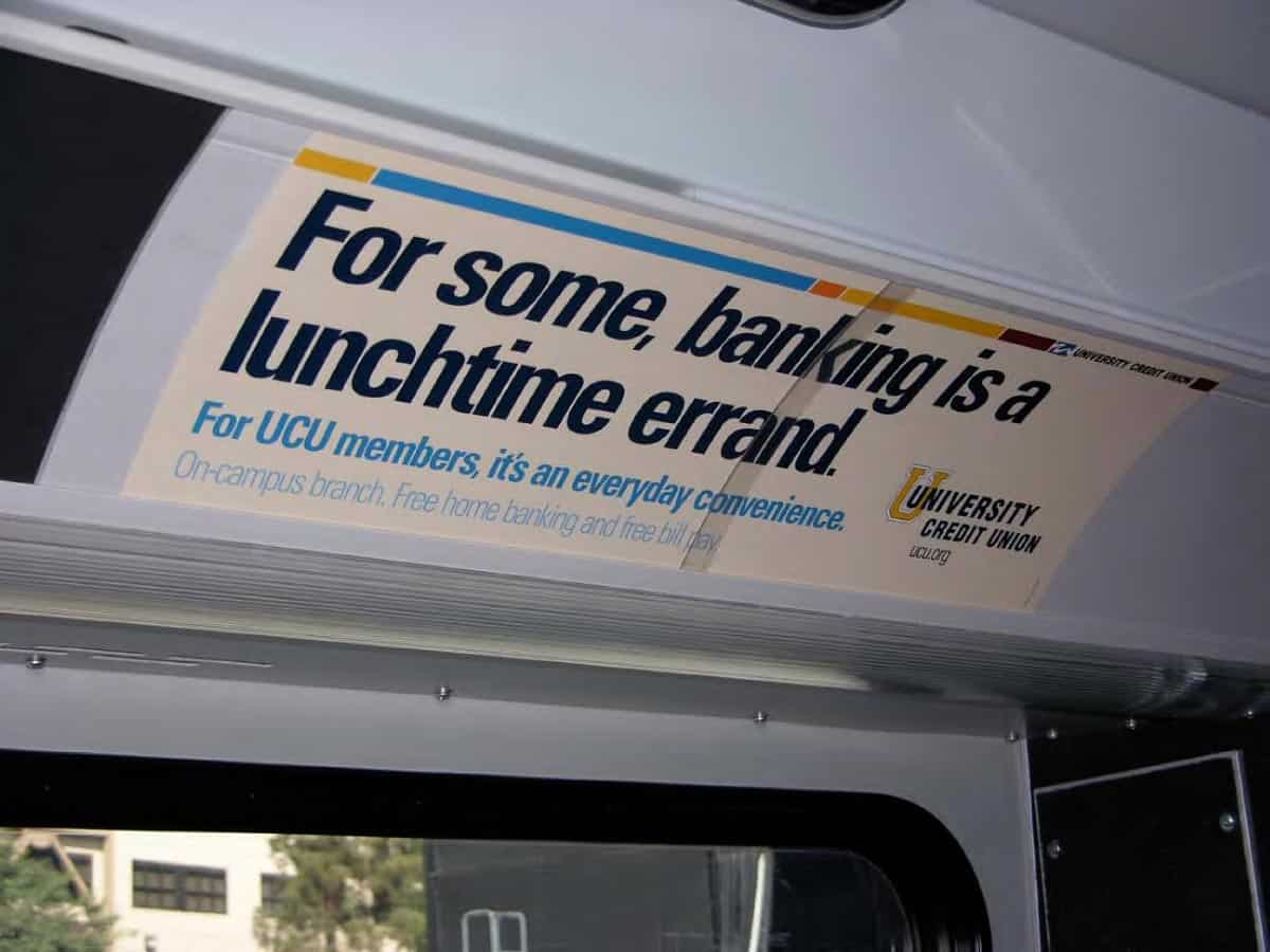 University Credit Union Bus Boards
