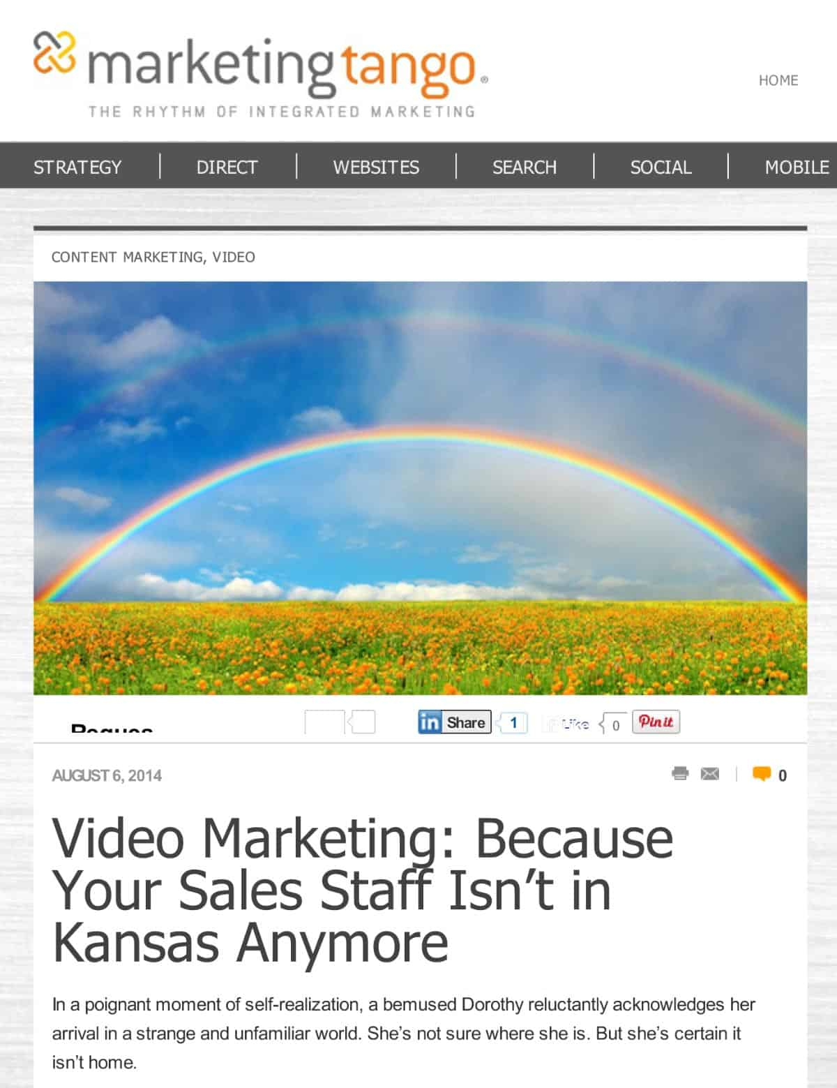 Marketing Tango SMB Blog — Video Marketing