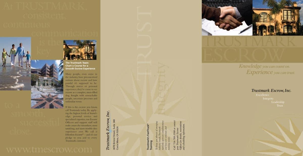 Trustmark Escrow Brochures