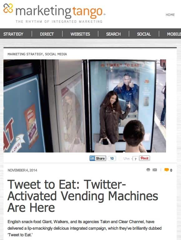 Marketing Tango  — SMB Blog — Tweet-To-Eat